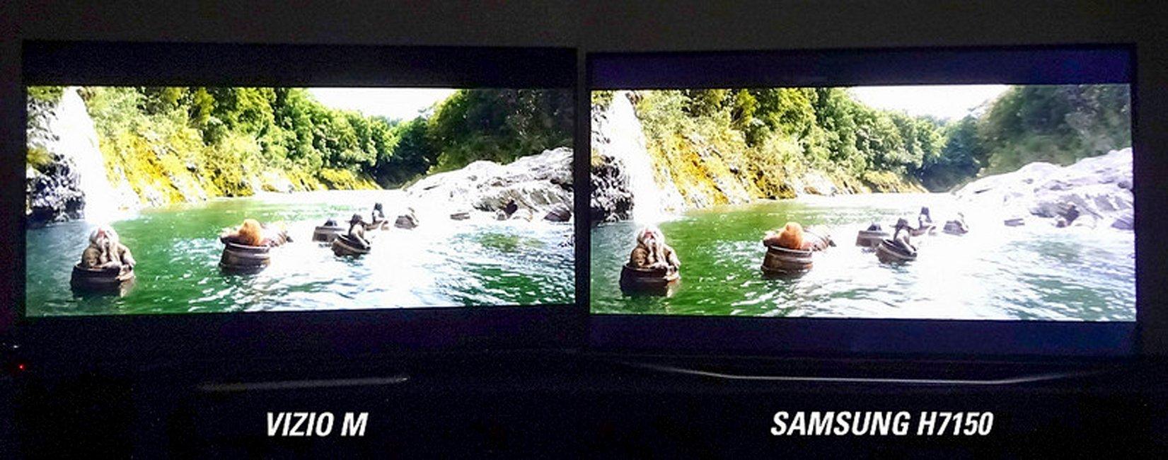 Vizio Demo: M Series vs. Samsung H7150