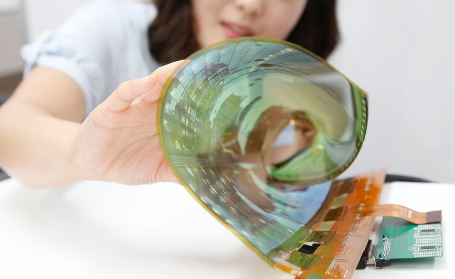 LG flexible OLED screen