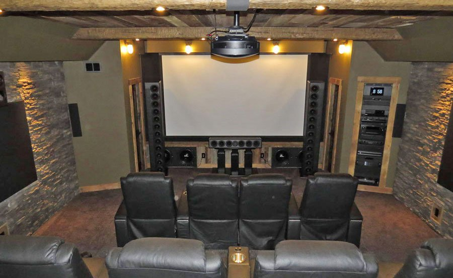 Home Theater of the Month: Rustic Retreat