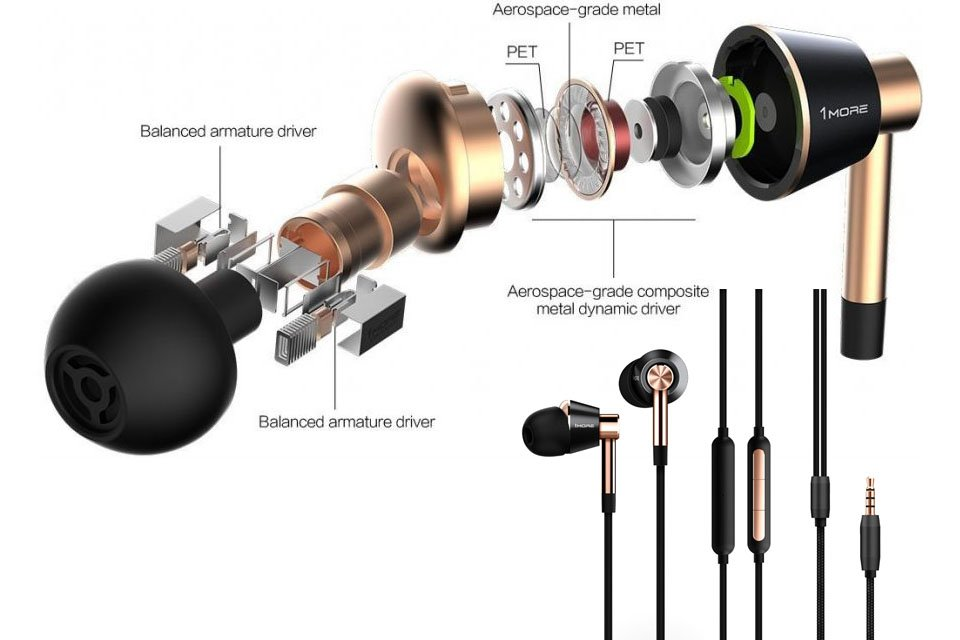 Kết quả hình ảnh cho 1MORE Quad-Driver In-Ear and Triple-Driver Over-Ear Headphones Review