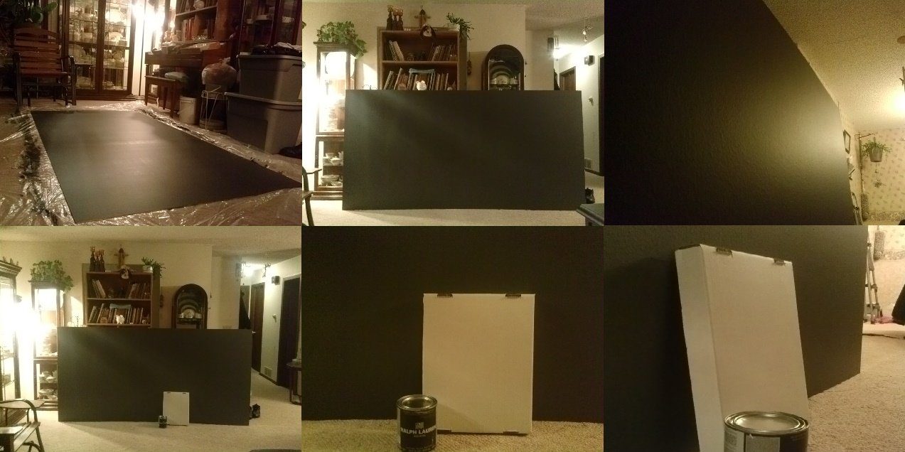 Easy Ambient Light Rejecting Screen Paint | AVS Forum