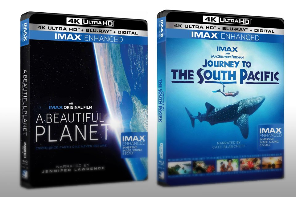 4K UHD Blu-ray IMAX Enhanced with HDR10+ A Beautiful Planet and Journey to the South Pacific