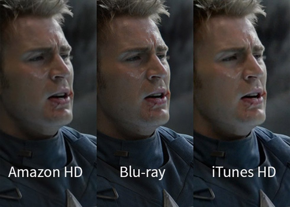 Captain America: The Winter Soldier – Blu-ray versus iTunes, Amazon, and Vudu