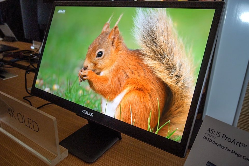 ASUS ProArt PQ22UC Portable UHD 4K HDR OLED Display at CES 2018