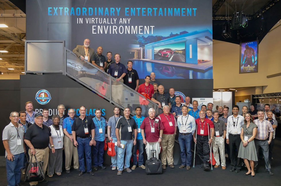 AVS Gathering in Epson Booth at CEDIA 2015