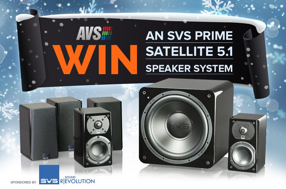 Win an SVS Prime Satellite 5.1 Speaker System!