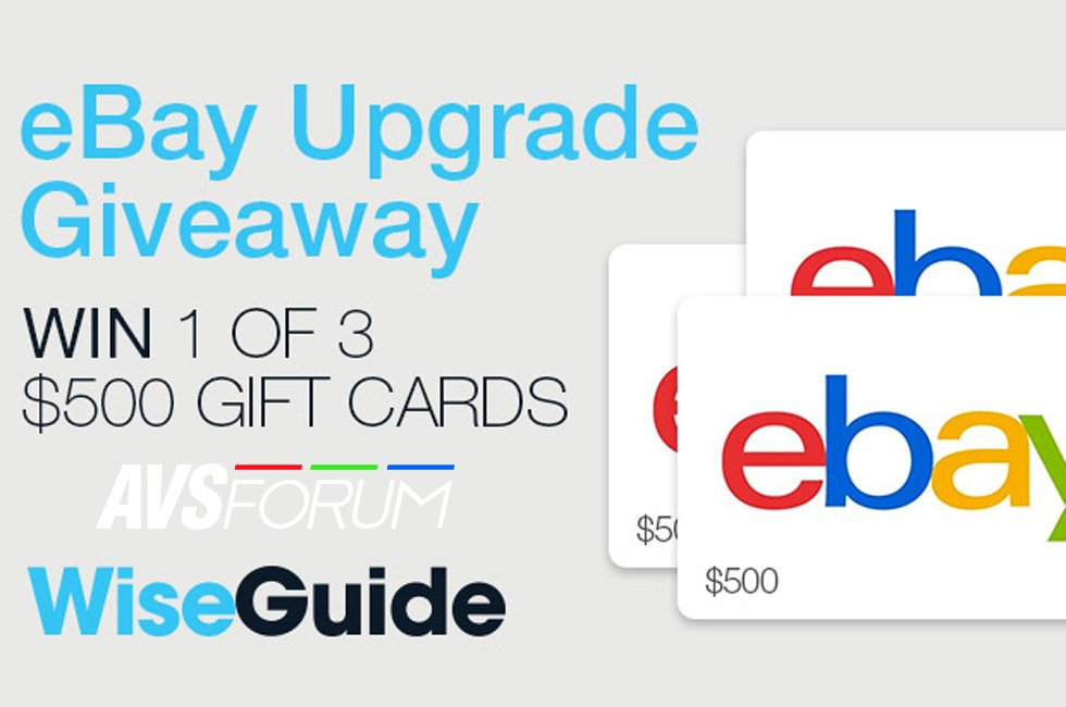 Win One of Three $500 eBay Gift Cards