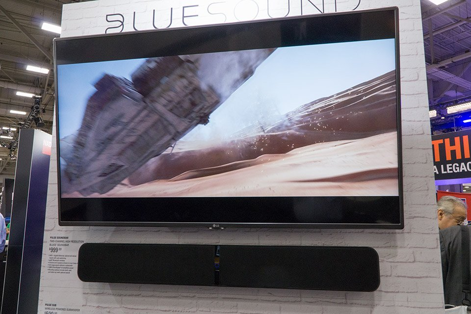 Bluesound High-Res Networked Pulse Soundbar and Subwoofer at CEDIA 2016