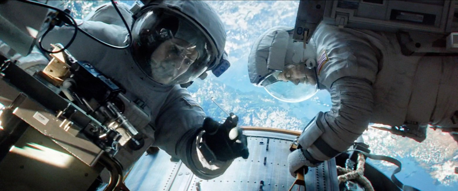 Gravity in Dolby 3D, Passive 3D, and Ultra-D