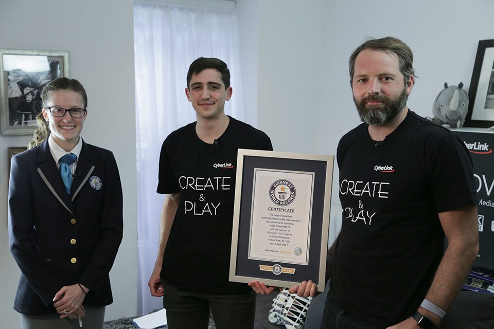 CyberLink and Two Brooklynites set Guinness World Record for Marathon VR Immersion