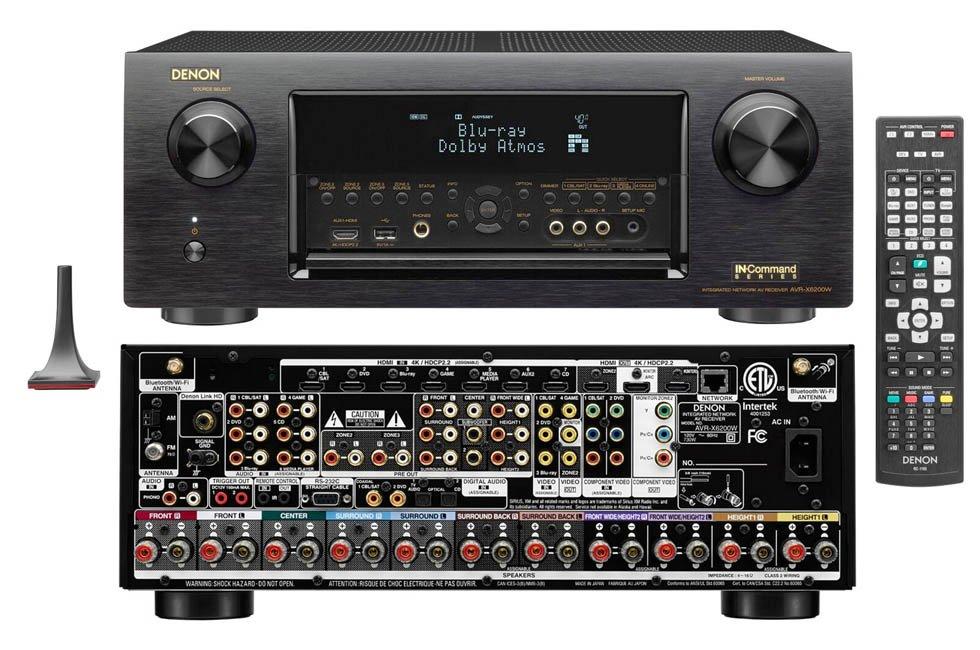 Denon Unveils AVR-X6200W 9.2 Channel Networked AVR