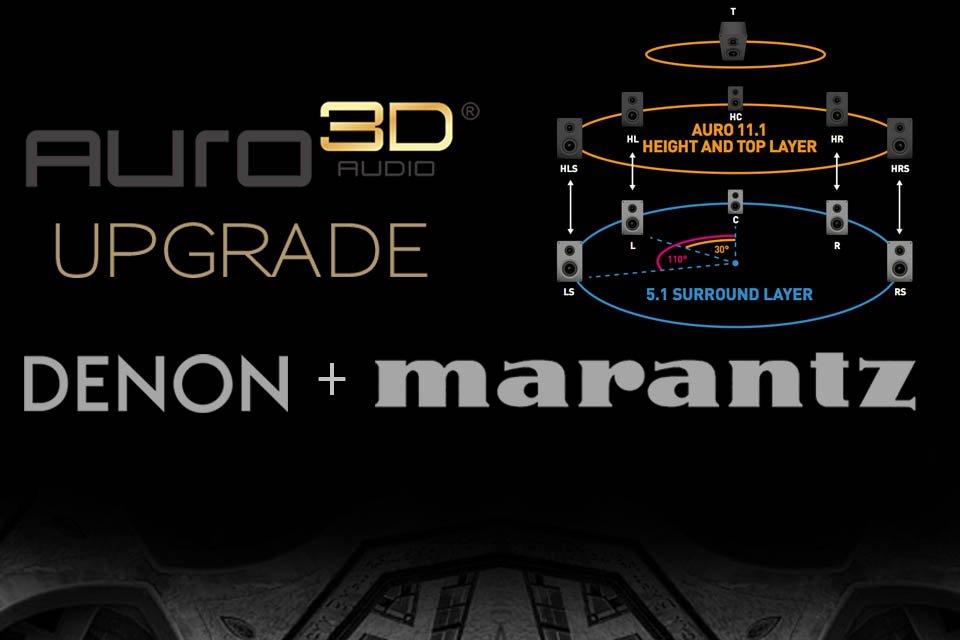 Latest Auro 3D Upgrade for Denon + Marantz AVRs and Pre-Pro Announced