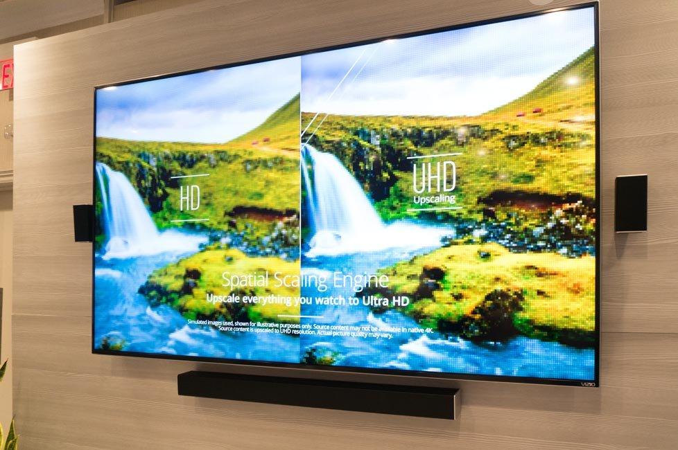 "Vizio M-series 80"" UHDTV at TAVES 2015"