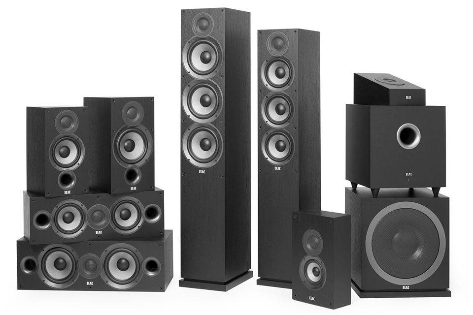 ELAC Debut 2.0 Series Speakers and Subwoofer