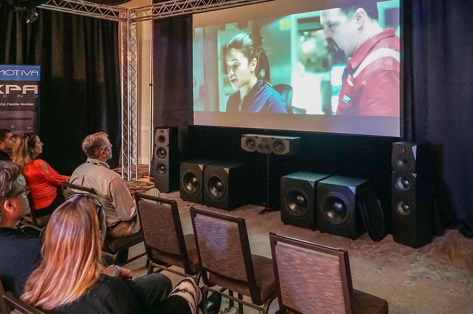 Emotiva Airmotiv Dolby Atmos and DTS:X Demo at AXPONA 2017