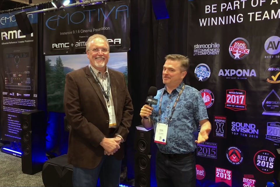 Emotiva RMC-1 and Dan Laufman at CEDIA 2018
