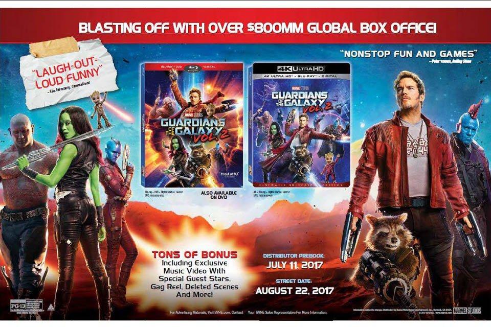 Guardians of the Galaxy Vol. 2 is First Disney 4K Ultra HD Blu-ray