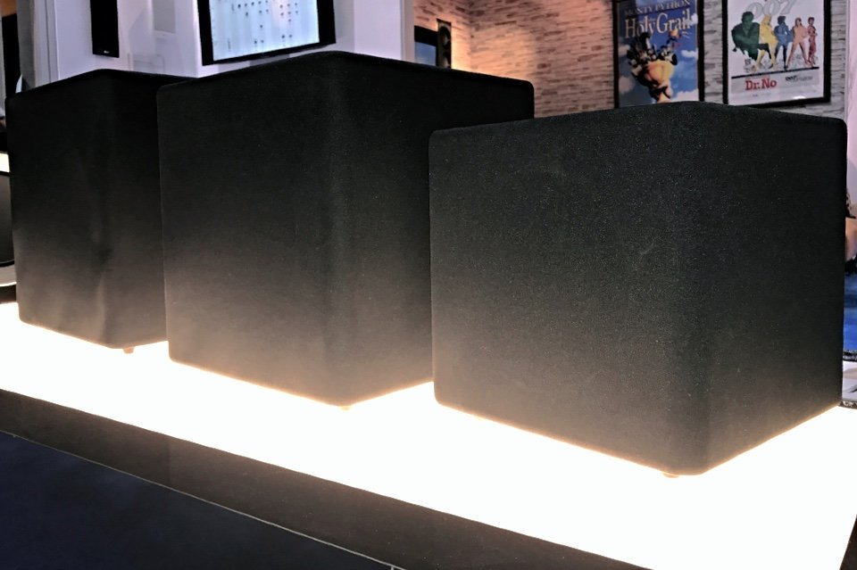KEF Kube subwoofers at CEDIA 2017