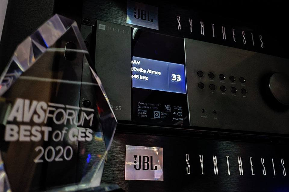 JBL SDP-55 Pre-Pro and SDR-35 AVR at CES 2020