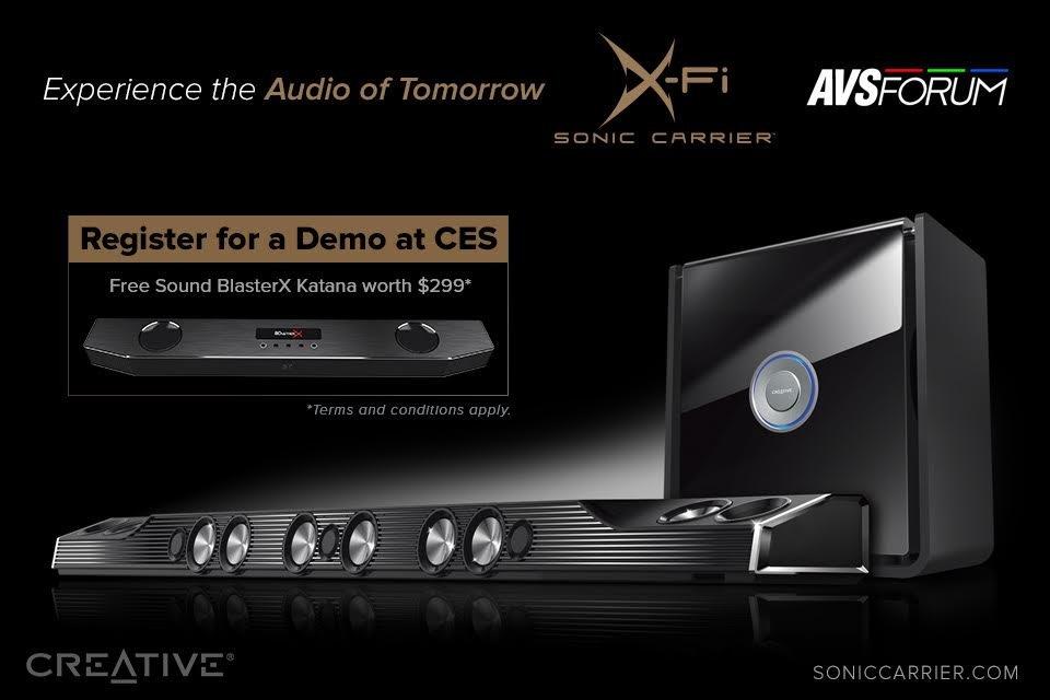 Attend the X-Fi Sonic Carrier Demo at CES 2018, Get a Sound BlasterX Katana Soundbar