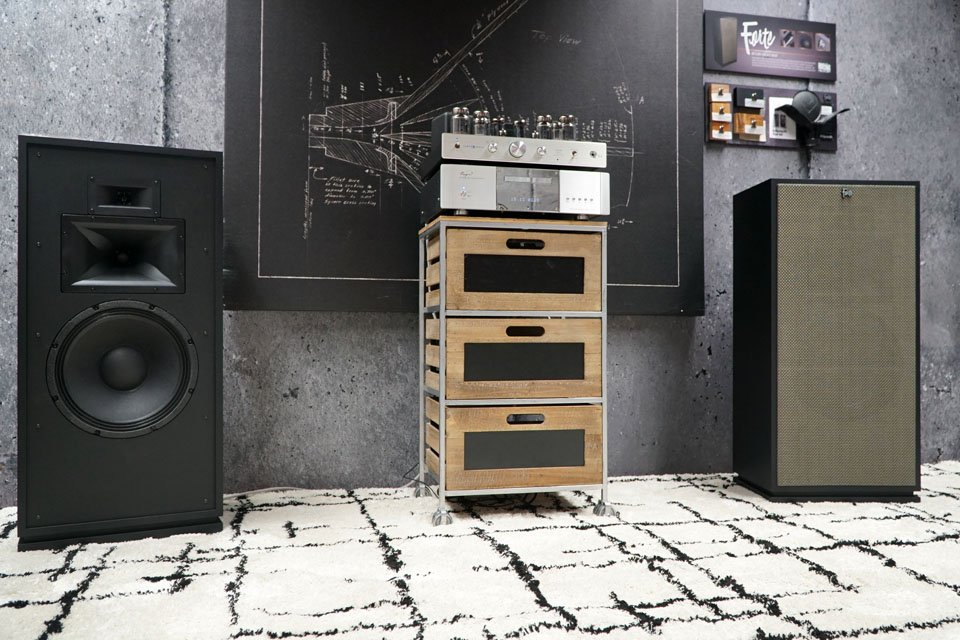Klipsch Forte with One Grill and Carey Audio