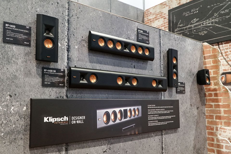 Klipsch Reference Premiere On-Wall at CES 2017
