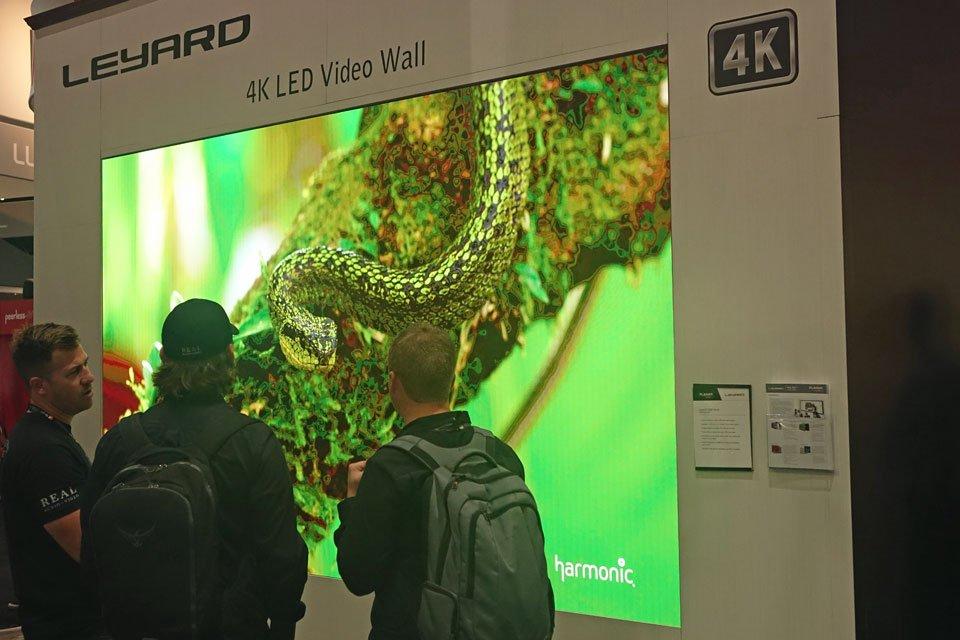 Leyard TWA0.9 LED Video Wall at CEDIA 2017