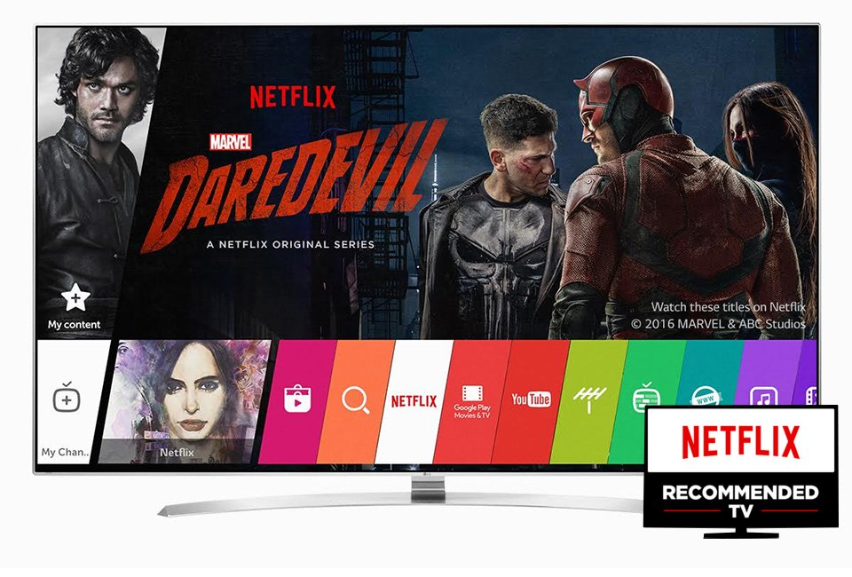 LG Netflix Recommended TV