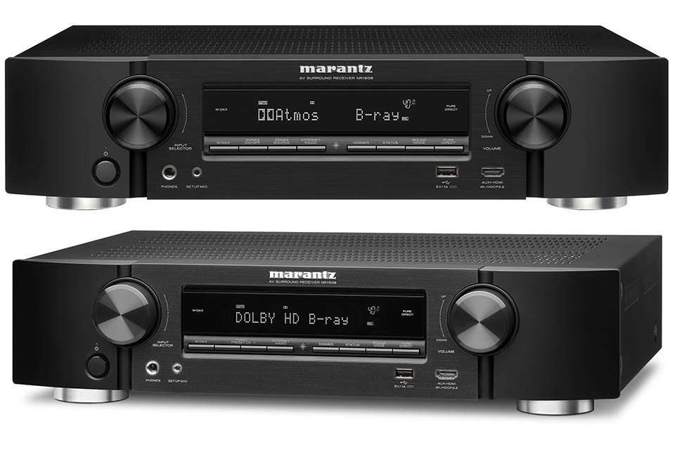 Marantz NR1508 and NR1608 AV Reveivers