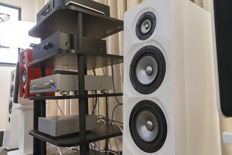 Markaudio-SOTA Demos Cesti T 2-Way Tower Speakers at AXPONA 2017