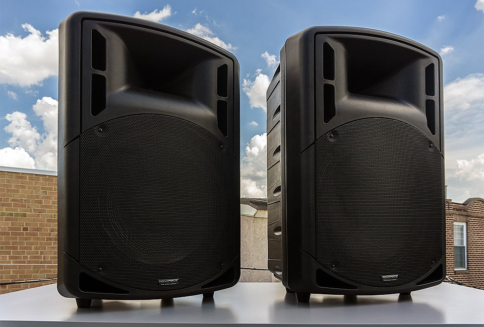 Monoprice 15 inch PA Speakers