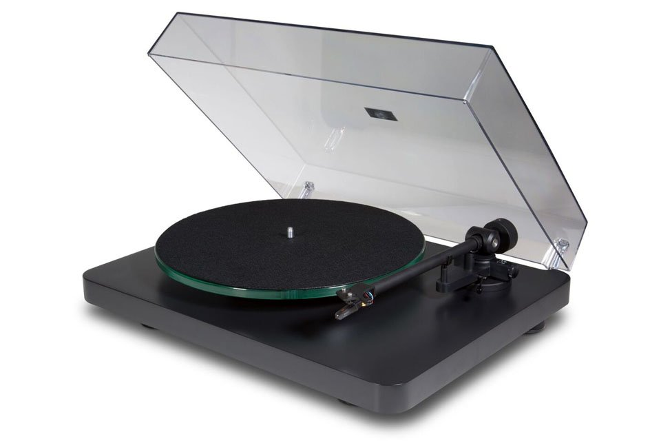 NAD C 558 Turntable with Ortofon OM20 Cartridge Dust Cover Up