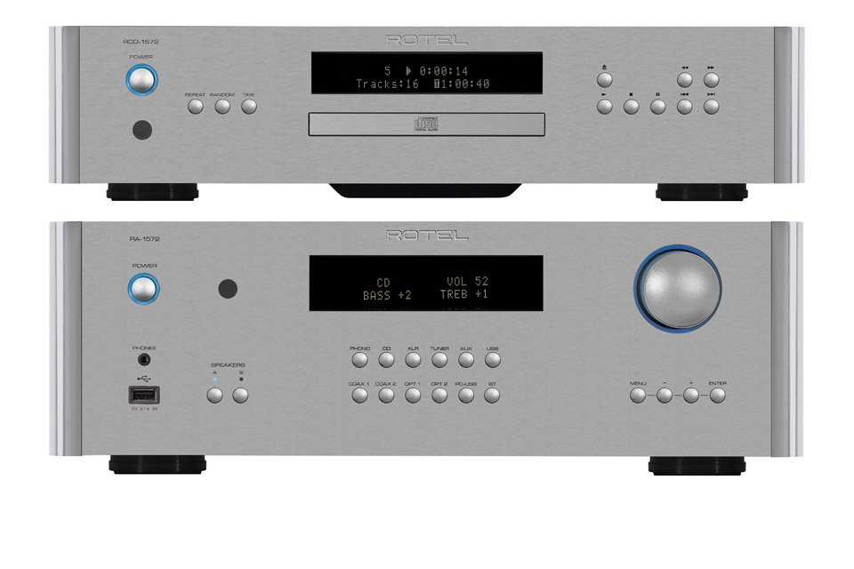 Rotel Releases New RA-1572 Integrated Amp, RC-1572 Preamp, RCD-1572 CD Player