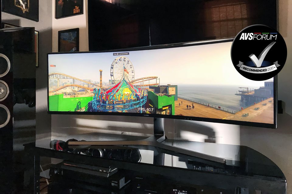 First Look Samsung Chg90 49 Curved Ultra Wide 32 9 Qled Hdr Gaming