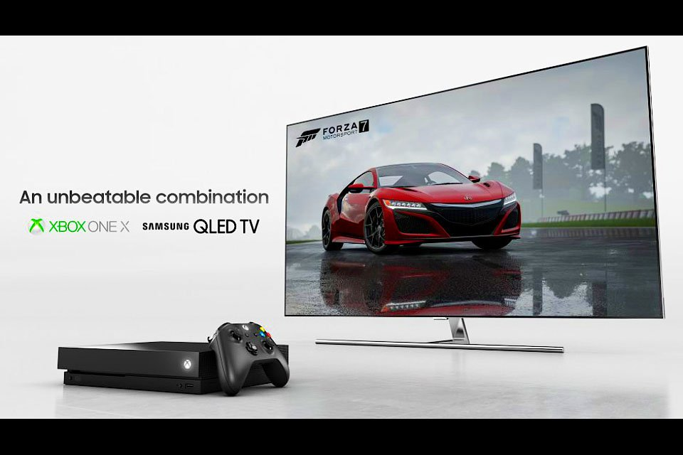 Samsung QLED and Xbox One X