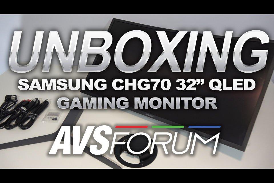 Samsung CHG70 32 Inch QLED Unboxing