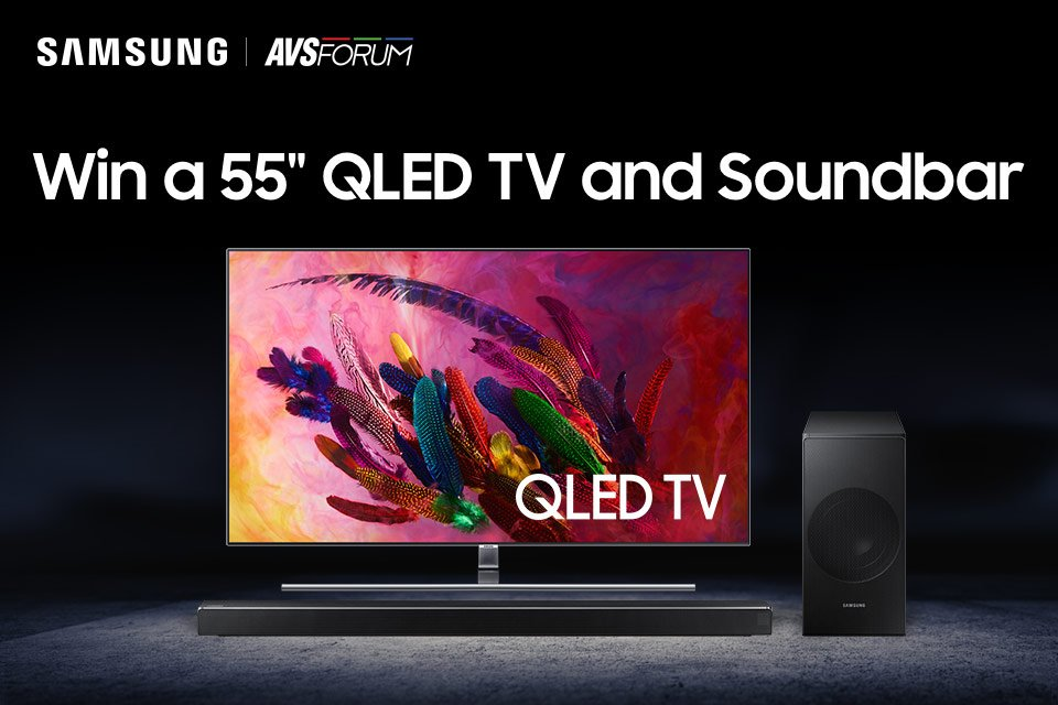 Win a Samsung 55″ Q7F and HW-N650 Soundbar (Ends 12/17)
