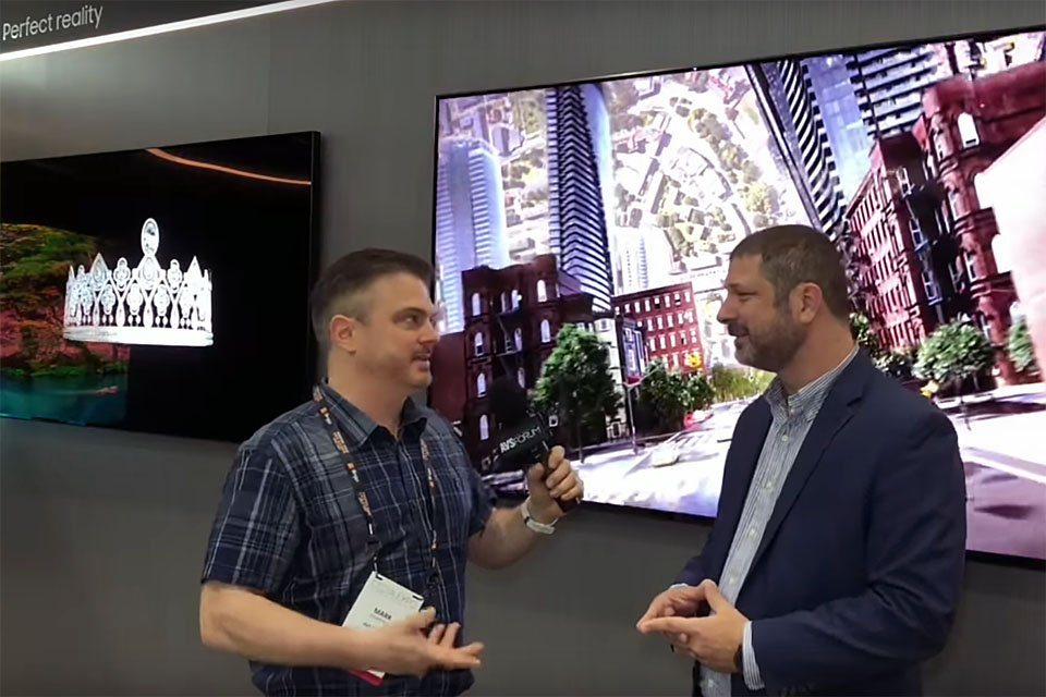 Samsung Q900R QLED 4K HDR TV at CEDIA 2018