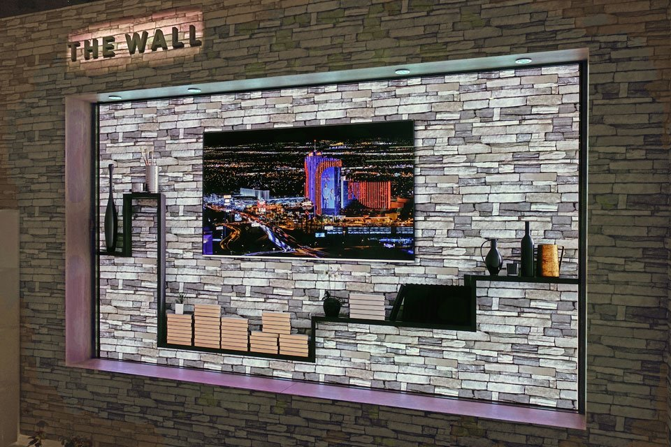 Samsung The Wall MicroLED 4K Display at CES 2018