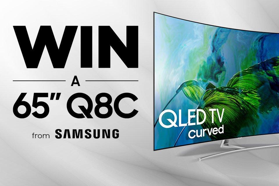Win a Samsung 65″ Q8C QLED HDR TV!
