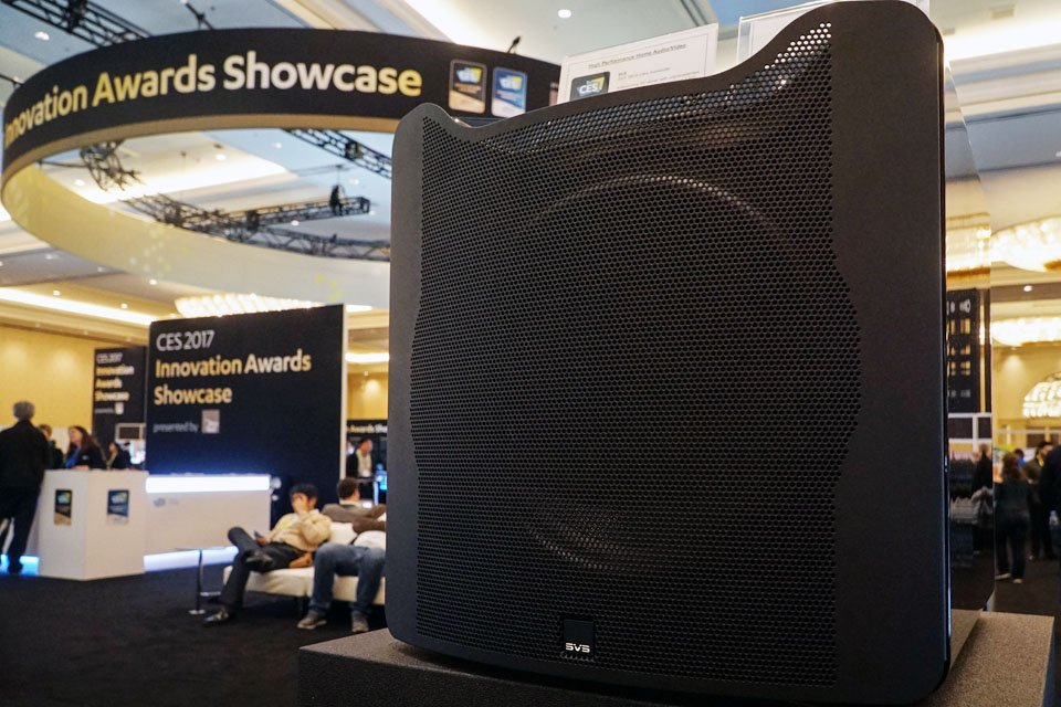 SVS SB16-Ultra Sub and Prime Elevation Speakers 5.1.2 Demo at CES 2017