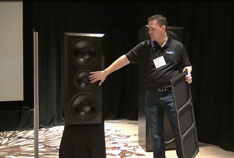 Mark Seaton and the Catalyst 12C speaker.