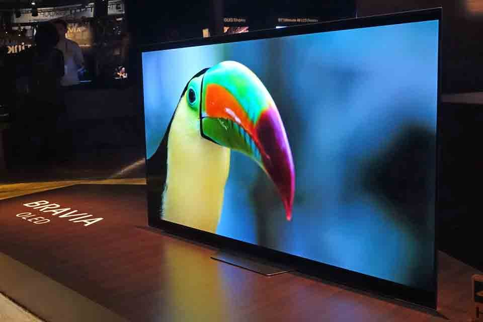 Sony A8F OLED TV at CES 2018