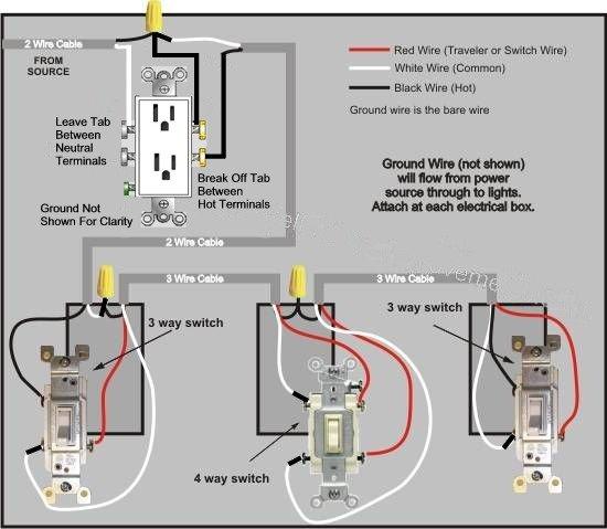 Wiring 2 half hot receptacles - 3 way wiring | AVS ForumAVS Forum