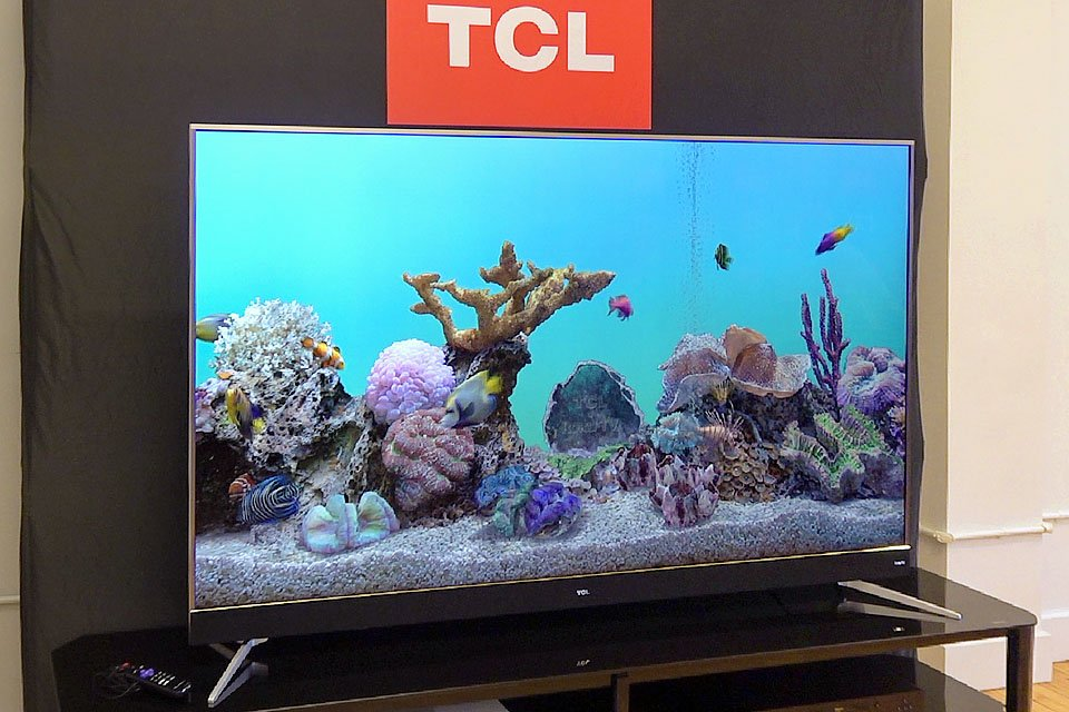 TCL 75 inch C Series 4K Roku TV with Dolby Vision and HDR10
