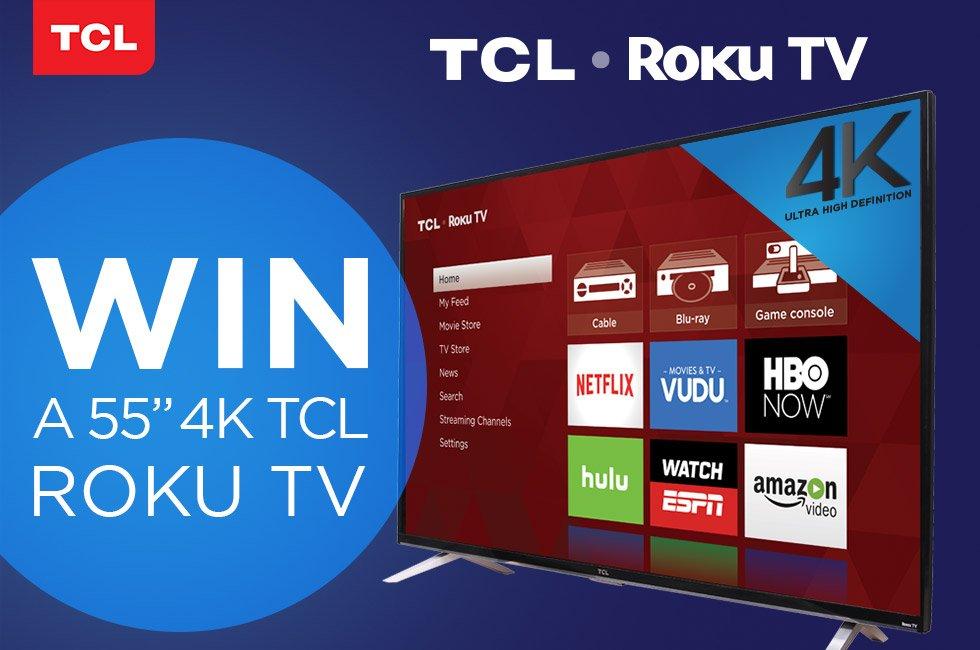 Win a TCL 55UP130 4K/UHD Roku TV!