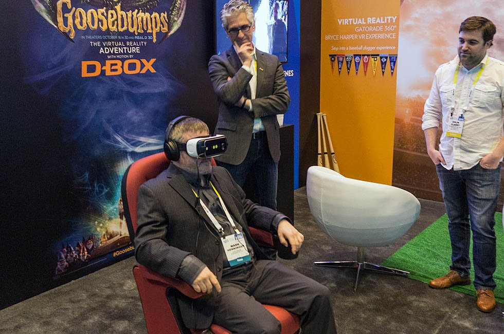 Technicolor Goosebumps D-box Gear VR Demo at CES 2016