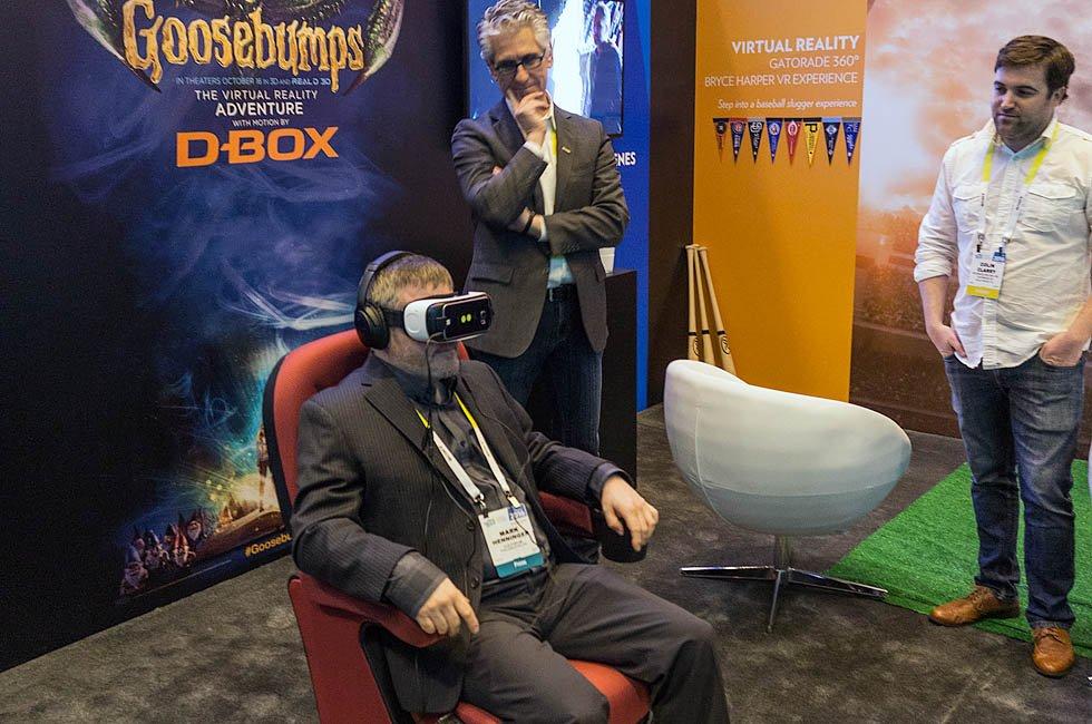 Technicolor Goosebumps D-box Gear VR Demo at CES 2016