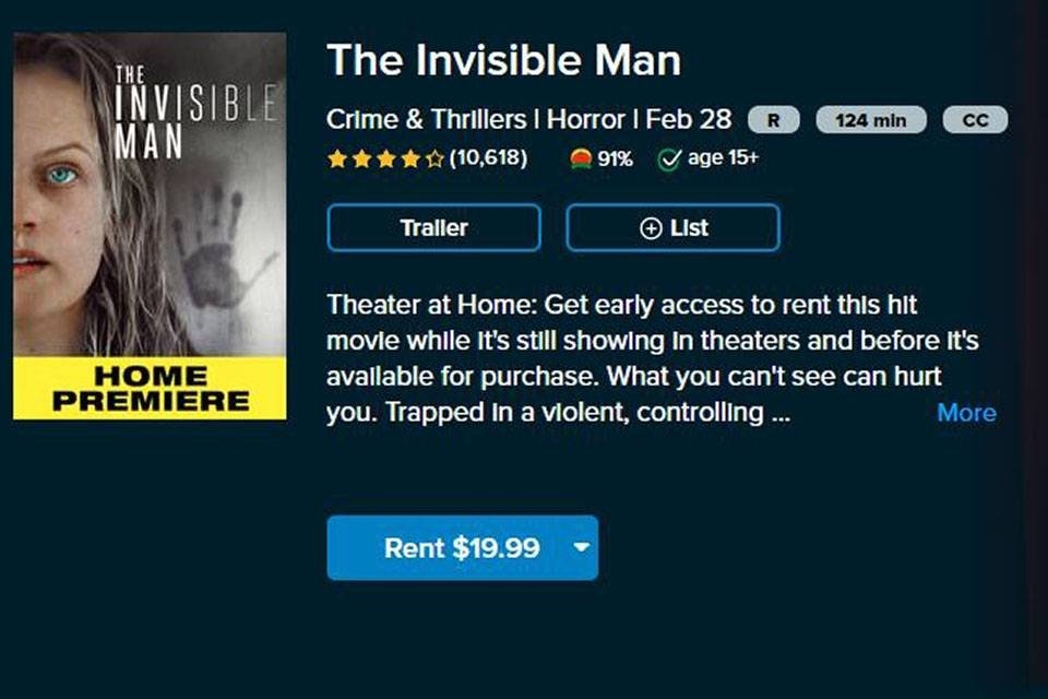 Watching The Invisible Man (2020) On Demand