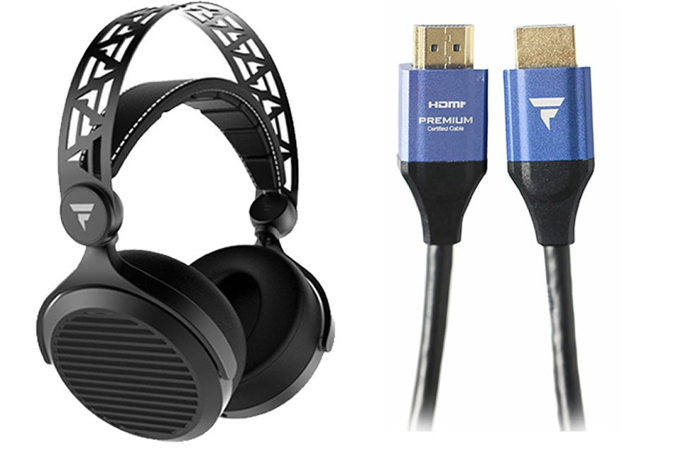 Tidal Force Headphones and HDMI cables